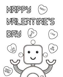 robo valentines coloring pages valentine coloring pages of