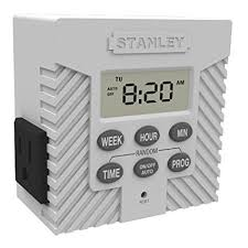 stanley outdoor light timer instructions stanley 31200 timermax weekly grounded 1 outlet weekly digital timer