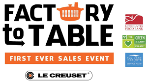 le creuset factory to table le creuset factory to table sales event charleston events