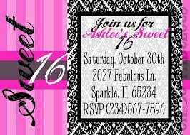 invitation design for sweet sixteen birthday decorating of party