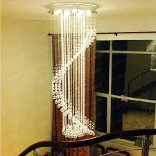 High Ceiling Led Lighting Amazing Stairway Chandelier 110v High Ceiling Led L