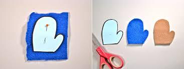 tutorial felted mitten ornaments handled scissors