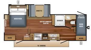 jayco travel trailers floor plans 2018 jay flight slx travel trailer floorplans u0026 prices rugby