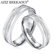 stainless steel wedding rings aziz bekkaoui rings stainless steel wedding rings engrave