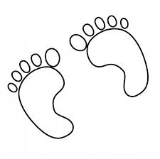 feet clipart printable pencil and in color feet clipart printable
