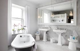 Matching Pedestal Sink And Toilet White Bathrooms Can Be Interesting Too U2013 Fresh Design Ideas