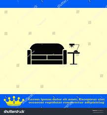 home interior design icon sofa icon stock vector 521829910
