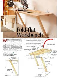 fold down workbench plans workshop solutions projects tips and