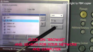 cs how to create smb scan account on canon ir series copy machine
