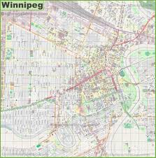 Winnipeg Canada Map by Large Detailed Map Of Winnipeg