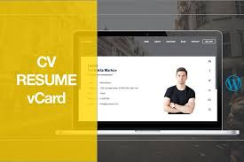 Wordpress Resume Themes Cv Resume Wordpress Theme Wordpress Landing Page Themes