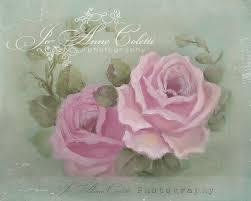 summer roses canvas print vintage rose paintings joanne coletti