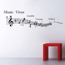 music note wall stickers picture more detailed picture about new new styles black music notes wall stickers quotes heaven wallpaper paste art deco mural room decal