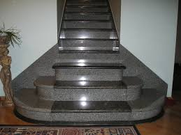 exterior enchanting staircase design with cozy granite stair treads