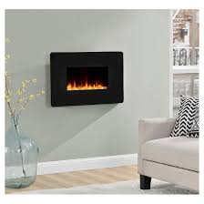 Electric Fireplace For Wall by Kenna Small Wall Mounted Electric Fireplace Black Altra Target