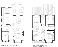Two Bedroom House Plans by Fine 2 Story House Floor Plans With Basement Print Plan Download