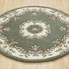 Green Round Rug by Royal Aubusson Round Rugs In Green Ivory Free Uk Delivery The