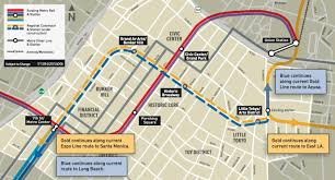Map Of Downtown Los Angeles Excavation Underway For Regional Connector Rail Tunnels The Source
