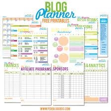 Life Planning Worksheet Printable Blog Planner Portland Bloggers