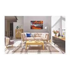 canap orange como 2 seater sofa in bellagio fabric orange and oak legs