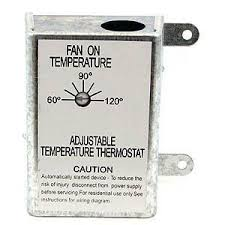 thermostat controlled exhaust fan attic fan thermostat control by nutone inc 13 05 automatically