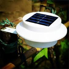Solar Powered Fence Lights - lionel outdoor solar powered 3 led security landscape garden
