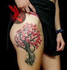 wrist cherry blossom tree thigh tattoojackie rabbit ideas galleries