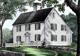 historic colonial floor plans saltbox style historical house plan 32439wp architectural