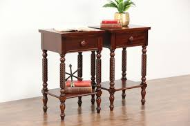 antique nightstands and bedside tables pair of traditional vintage mahogany nightstands signed drexel
