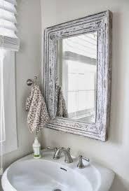 Best Place To Buy Bathroom Mirrors Vintage Bathroom Mirror Ideas With Distressed White Color Home