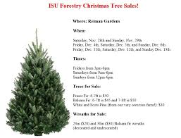 tree sale isu forestry club resource ecology
