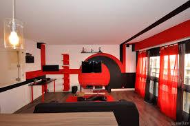 chambre rouge et noir indogate com decoration pour cuisine rouge