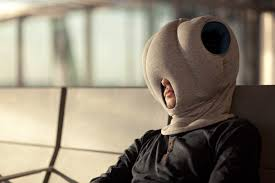 it s great for those long flights across the ocean and those layovers in the airport it s a head sized space for a power nap it s the ostrich pillow