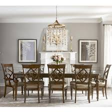 legacy classic latham 9 piece dining set with diamond back chairs