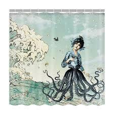 Vintage Mermaid Shower Curtain - online get cheap mermaid octopus aliexpress com alibaba group