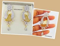 dangler earring american diamond dangler earrings american diamond dangler