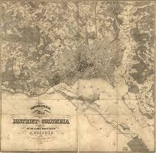 Map Of Washington Dc Neighborhoods by Incredible 1850s Map Of Washington Ghosts Of Dc