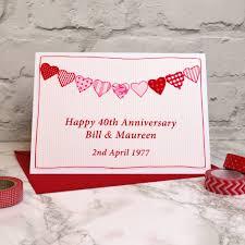 ruby wedding anniversary card by jenny arnott cards u0026 gifts