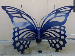 butterfly bench at the mcguire center gainesville fl artistic