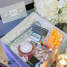 wedding welcome boxes lavender wedding gifts favors