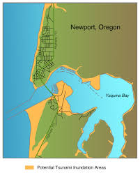 Northern Oregon Coast Map by Living With Earthquakes In The Pacific Northwest
