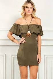 necklace dress images Faux suede off the shoulder dress w necklace shop dresses at aspx