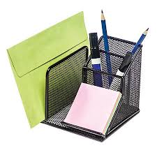 Mesh Desk Organizer Brenton Studio Metro Mesh Desk Organizer Black By Office Depot