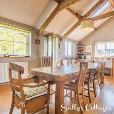 the wonderful dining kitchen at lowmoor farmhouse features high
