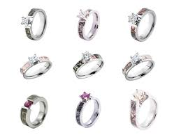 camo wedding rings with real diamonds pink camo wedding ring wedding corners