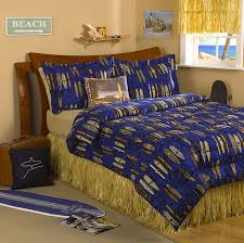 girls surf bedding amazon com natural raffia bed skirt queen size by dean miller