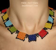 necklace beaded pattern images Free pattern for beaded necklace squares beads magic jpg