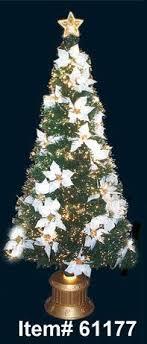 homebrite 52 fiber optic white poinsettia tree products