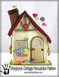 Step 2 Storybook Cottage Used by Storybook Cottage Pincushion Pattern Tammy Tutterow Designs