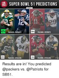 What Are The Super Bowl Predictions From 14 Animals Across The - fan super bowl 51 predictions poll results patepts 42 24 falconsvs